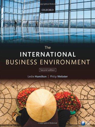 9780199596829: The International Business Environment