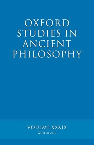 Oxford Studies in Ancient Philosophy volume 39.: INWOOD, B.,