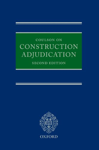 9780199597222: Coulson on Construction Adjudication