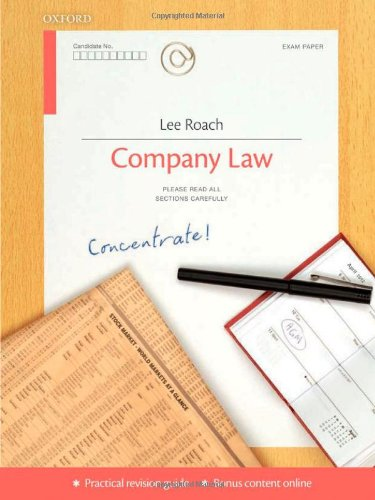 9780199599066: Company Law Concentrate