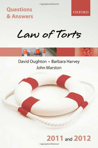 9780199599899: Q & A Revision Guide: Law of Torts 2011 and 2012 (Law Questions & Answers)