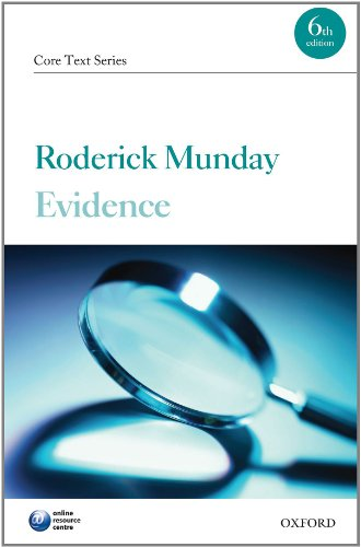 9780199600502: Evidence Core Text (Core Texts Series)