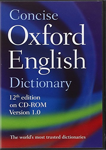 9780199601097: Concise Oxford English Dictionary: CD-ROM edition, Windows/Mac Individual User Version 1.0