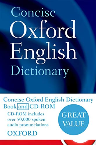 9780199601103: Concise Oxford English Dictionary: Book & CD-ROM Set