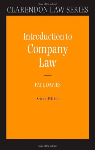 9780199601325: Introduction to Company Law