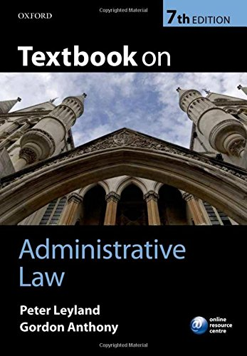 9780199601660: Textbook on Administrative Law