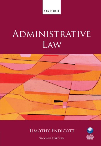 9780199601752: Administrative Law