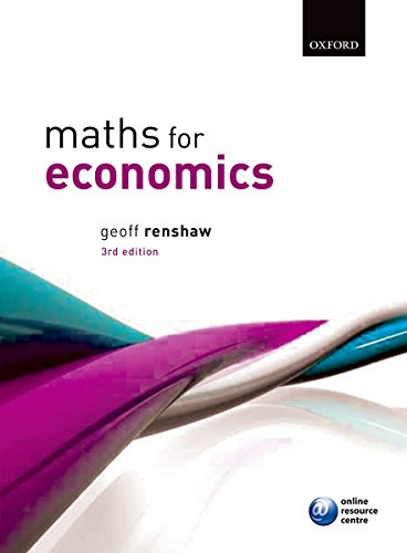 9780199602124: Maths for Economics