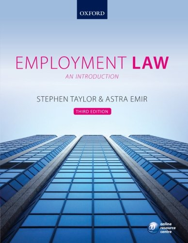 9780199604890: Employment Law: An Introduction