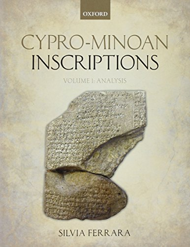 9780199607570: Cypro-Minoan Inscriptions: Volume 1: Analysis