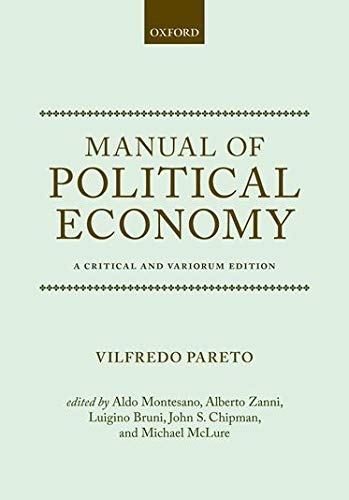 9780199607952: Manual of Political Economy: A Critical and Variorum Edition