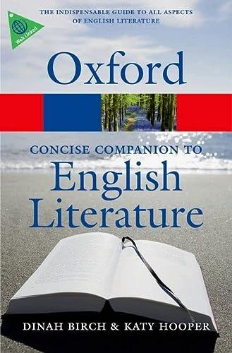 9780199608218: The Concise Oxford Companion to English Literature 4/e (Oxford Quick Reference)