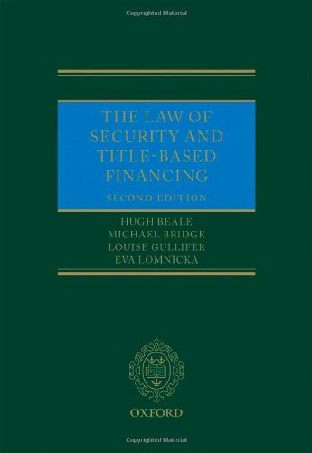 9780199608720: The Law of Security and Title-Based Financing