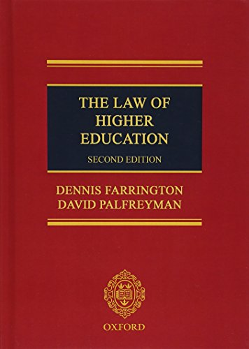 9780199608799: The Law of Higher Education