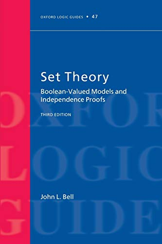 9780199609161: Set Theory: Boolean-Valued Models and Independence Proofs