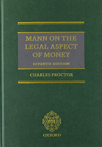 9780199609178: Mann on the Legal Aspect of Money