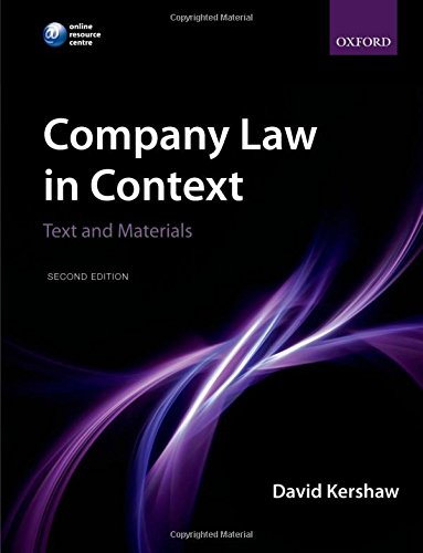 9780199609321: Company Law in Context: Text and Materials