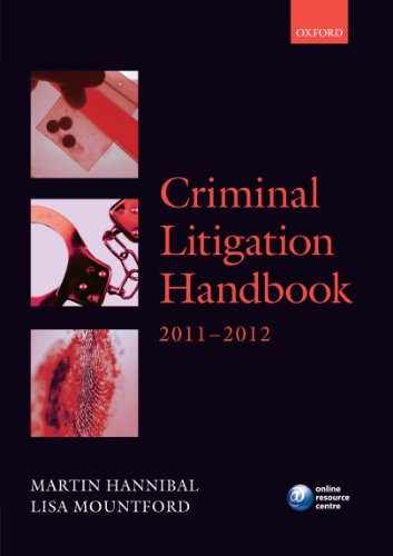 9780199609383: Criminal Litigation Handbook 2011-12 (Legal Practice Course Guide)
