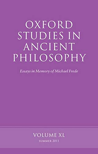 9780199609659: Oxford Studies in Ancient Philosophy: Essays in Memory of Michael Frede Volume 40
