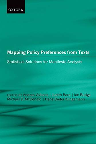 9780199640041: Mapping Policy Preferences from Texts: Statistical Solutions for Manifesto Analysts