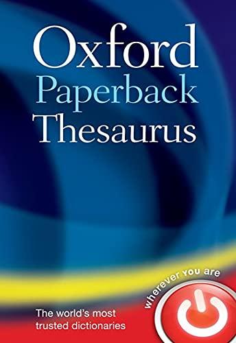 9780199640959: Oxford Paperback Thesaurus