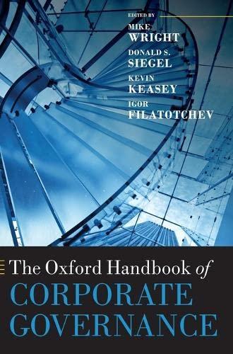 9780199642007: The Oxford Handbook of Corporate Governance