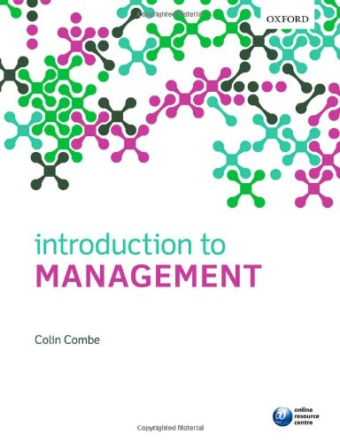 Introduction to Management: Combe, Colin
