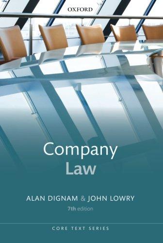 9780199643226: Company Law (Core Texts Series)