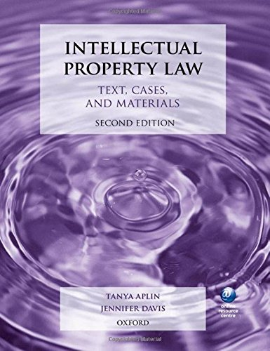 9780199643301: Intellectual Property Law: Text, Cases, and Materials