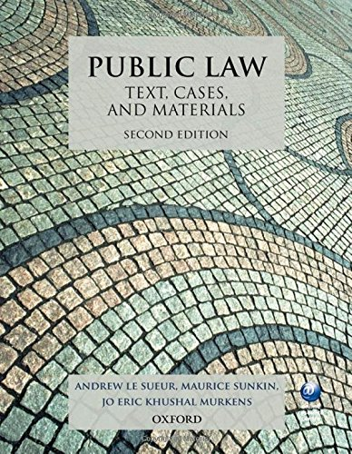 9780199644186: Public Law: Text, Cases, and Materials