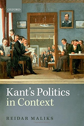 9780199645152: Kant's Politics in Context