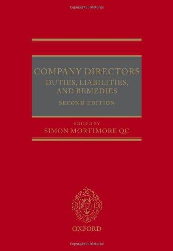 9780199645312: Company Directors: Duties, Liabilities, and Remedies