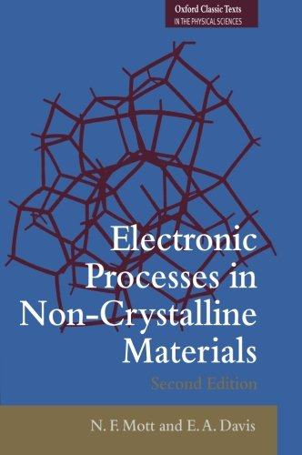 9780199645336: Electronic Processes in Non-Crystalline Materials