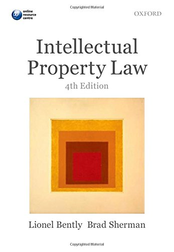 9780199645558: Intellectual Property Law