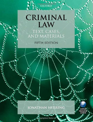 9780199646258: Criminal Law: Text, Cases, and Materials