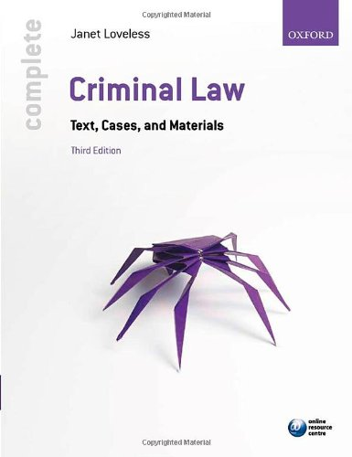 9780199646418: Complete Criminal Law: Text, Cases, and Materials