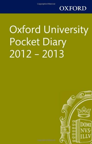 9780199653195: Oxford University Pocket Diary 2012-2013