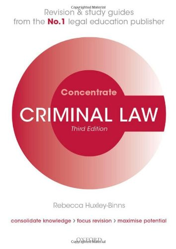 9780199654192: Criminal Law Concentrate: Law Revision and Study Guide