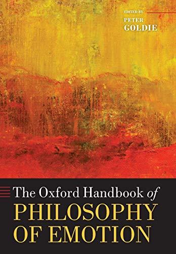 9780199654376: The Oxford Handbook of Philosophy of Emotion (Oxford Handbooks)