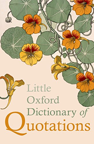 9780199654505: Little Oxford Dictionary of Quotations
