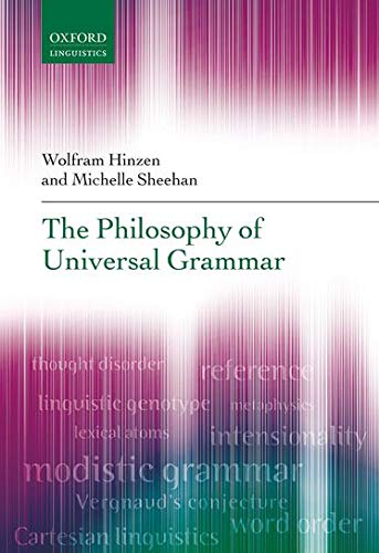 9780199654833: The Philosophy of Universal Grammar (Oxford Linguistics)