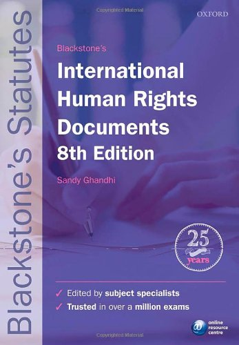 9780199656325: Blackstone's International Human Rights Documents (Blackstone's Statutes)
