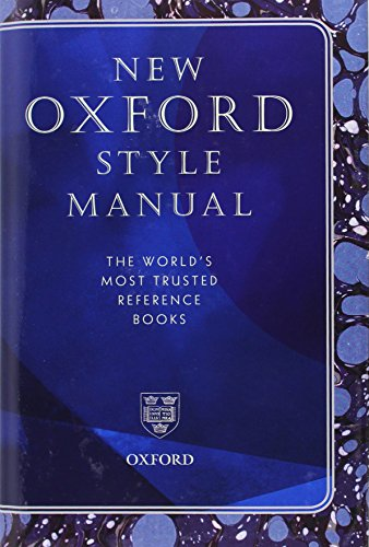9780199657223: New Oxford Style Manual