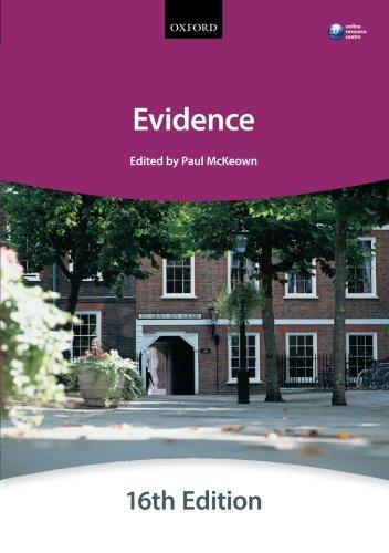 9780199657346: Evidence (Bar Manuals)