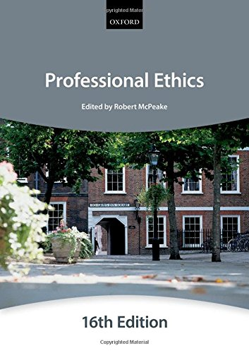 Professional Ethics (Bar Manual: Professional Ethics (Inns: The City Law