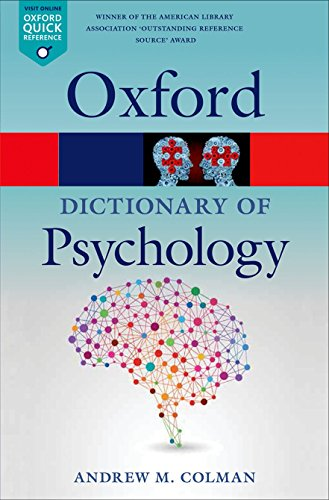 9780199657681: A Dictionary of Psychology (Oxford Quick Reference)
