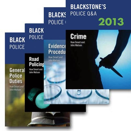9780199658657: Blackstone's Police Q&A: Four Volume Pack 2013 (Blackstone's Police Manuals)