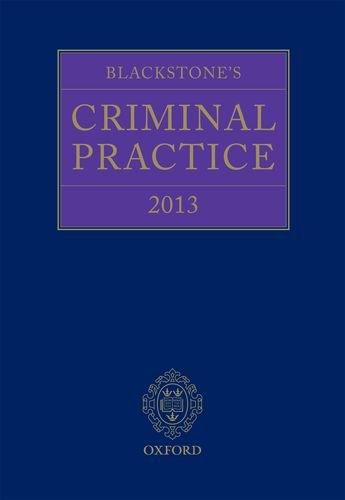 9780199658879: Blackstone's Criminal Practice 2013