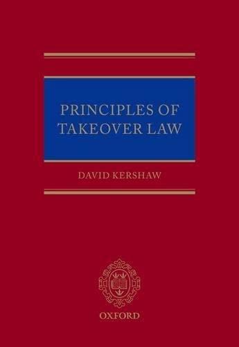 9780199659555: Principles of Takeover Regulation