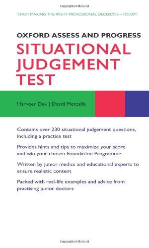 Situational Judgement Test (Oxford Assess and Progress): Dev, Harveer, Metcalfe,